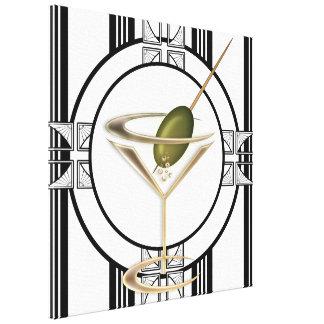 Kunst-Deko-Cocktail-Wand-Leinwand Galerie Gefaltete Leinwand