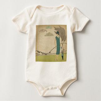 Kunst-Deko-Dame Baby Strampler