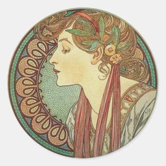 Kunst-Deko-Dame Stickers