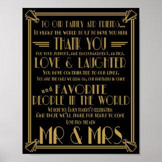 Kunst-Deko danken Ihnen, Hochzeitszeichen Poster