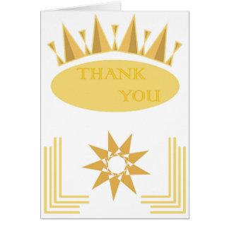 Kunst-Deko danken Ihnen zu kardieren Karte