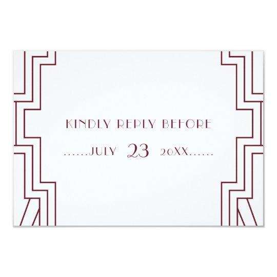 Kunst-Deko, der Burgunder-UAWG Karte Wedding ist 8,9 X 12,7 Cm Einladungskarte