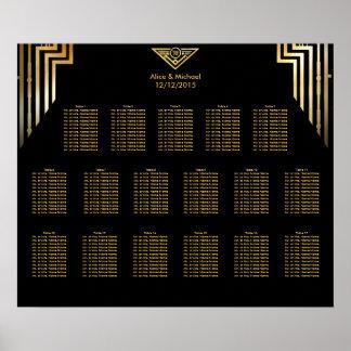Kunst-Deko, der Sitzplatz-Diagramm Gatsby Poster