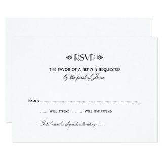 Kunst-Deko-elegante Art Hochzeit UAWG Karten-1% Karte