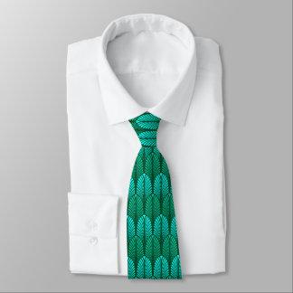 Kunst-Deko-Feder-Muster, Türkis und Aqua Krawatte