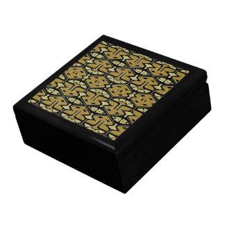 Kunst-Deko-Flair - Veränderung auf Schwarzem Geschenkbox