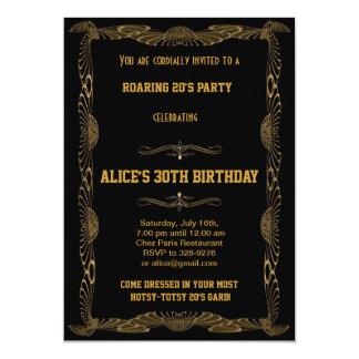 Kunst-Deko Gatsby Art-Geburtstags-Party Einladung 12,7 X 17,8 Cm Einladungskarte