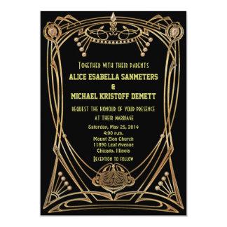 Kunst-Deko Gatsby Art-Hochzeits-Einladung - 12,7 X 17,8 Cm Einladungskarte