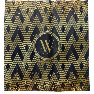 Kunst-Deko Gatsby Glamour-geometrisches Duschvorhang