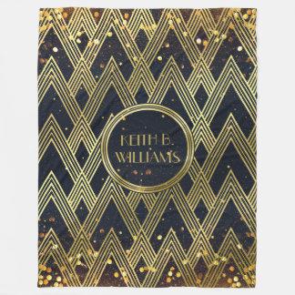 Kunst-Deko Gatsby Glamour-geometrisches Fleecedecke