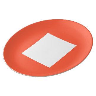 Kunst-Deko-großer Teller durch Janz Tomate-Rot