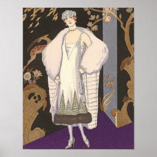 Kunst-Deko-Illustrations-italienischer Mantel und Poster