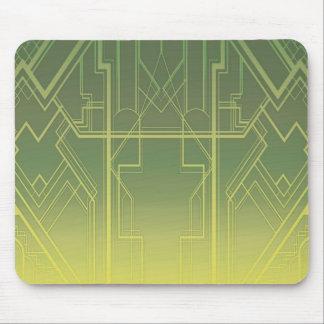 Kunst-Deko (in den Grüntönen) Mousepad