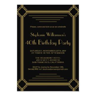 Kunst-Deko irgendein Alters-Geburtstags-Party 12,7 X 17,8 Cm Einladungskarte