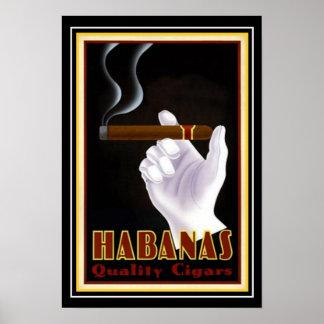 """Kunst-Deko-Kubaner """"Habanas"""" Zigarren-Anzeige 13 x Poster"""