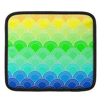 Kunst-Deko, Kunst nouveau, Vintag, Muschel, Fan, iPad Sleeve