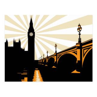 Kunst-Deko-London-Postkarte Postkarte