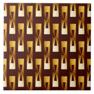 Kunst-Deko-metallisches geometrisches - Gold und Fliese
