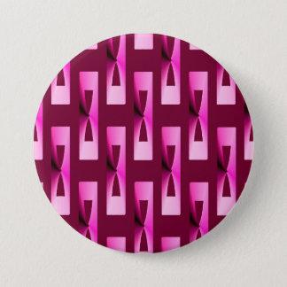 Kunst-Deko-metallisches geometrisches - Orchidee Runder Button 7,6 Cm