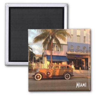 Kunst-Deko Miami Beach Quadratischer Magnet