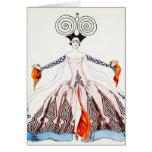 Kunst-Deko-Mode-Gruß-Karte Georges Barbier