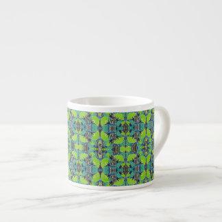 Kunst-Deko-Muster - tropische Grüntöne und Blues Espressotasse