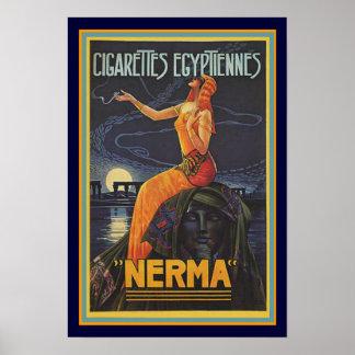 Kunst-Deko Nerma Zigaretten-Anzeigen-Plakat 13 x Poster