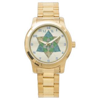 Kunst-Deko-Pfau-Federinspiriertes Uhr