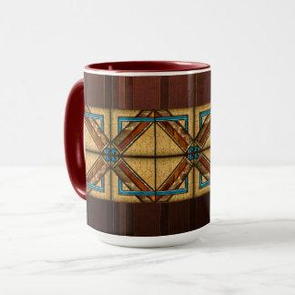 Kunst-Deko-Quadrat-Verzierungen Tasse