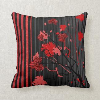 Kunst-Deko-rotes Streifen-Muster Kissen