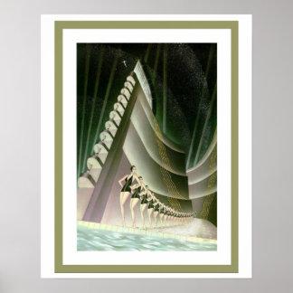 Kunst-Deko-Schwimmerplakat 16 x 20 Poster