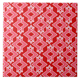 Kunst-Deko-Tapeten-Muster, dunkelrot und rosa Fliese