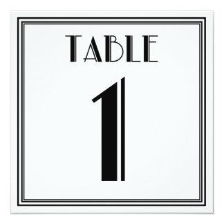 Kunst-Deko-Tischnummer 1 Quadratische 13,3 Cm Einladungskarte