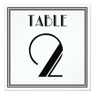 Kunst-Deko-Tischnummer 2 Quadratische 13,3 Cm Einladungskarte