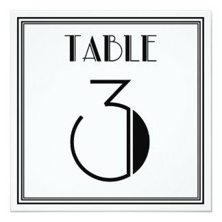 Kunst-Deko-Tischnummer 3 Quadratische 13,3 Cm Einladungskarte