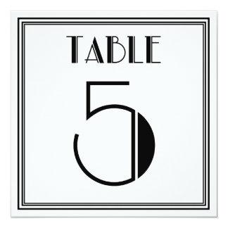 Kunst-Deko-Tischnummer 5 Quadratische 13,3 Cm Einladungskarte