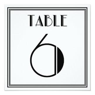 Kunst-Deko-Tischnummer 6 Quadratische 13,3 Cm Einladungskarte