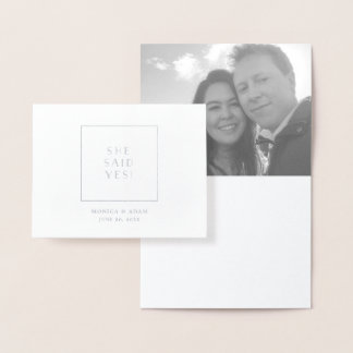 Kunst-Deko-Verlobungs-Mitteilungs-Karte Folienkarte