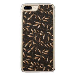 Kunst-Deko-Weide-Blatt-Muster Carved iPhone 8 Plus/7 Plus Hülle