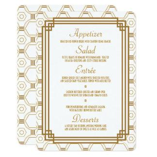 Kunst-Deko-weiße Hochzeits-Menü-Karten 12,7 X 17,8 Cm Einladungskarte