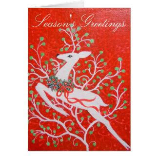 Kunst-Dekorotwild Weihnachtskarte Grußkarte