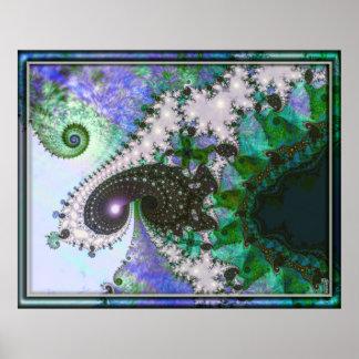 Kunst der schaumige Spiralen-windende Veränderungs Posterdrucke