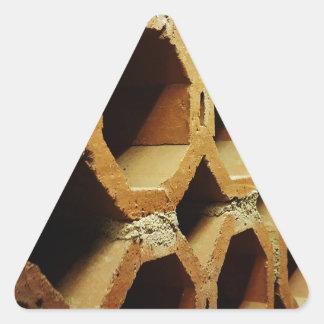 Kunst der täglichen Wege Dreieckiger Aufkleber