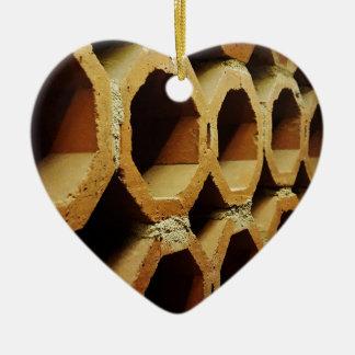 Kunst der täglichen Wege Keramik Herz-Ornament
