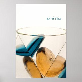 Kunst des Glases Poster