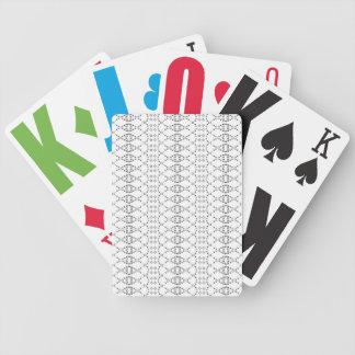 Kunst des Musik-nordische Strick-Text-ASCII Bicycle Spielkarten