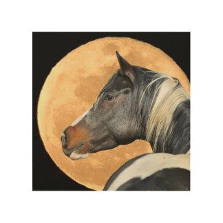 Kunst des Pferd-42Paint und Fulloon Holz-