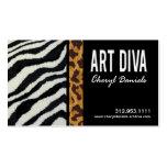 Kunst-Diva-Grafikdesigner-Visitenkarte