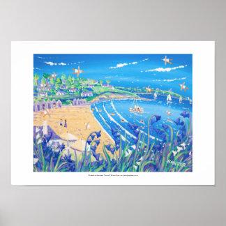 Kunst-Druck: Bluebells bei Swanpool, Cornwall Poster