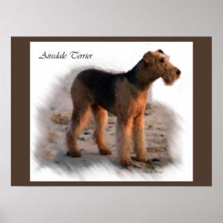 Kunst-Druck-Geschenke Airedales Terrier Poster